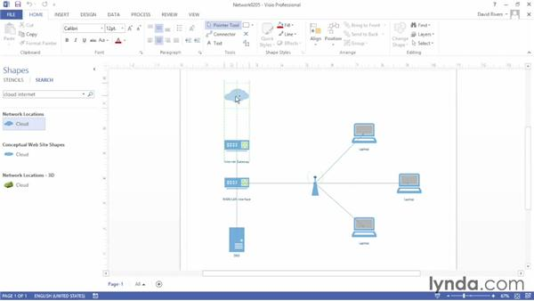 Searching for shapes: Up and Running with Visio 2013