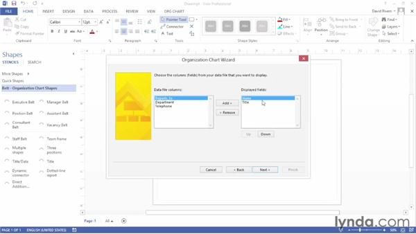 Importing data from an external source: Up and Running with Visio 2013