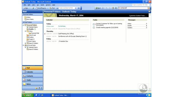 Outlook as a desktop: Outlook 2003 Essential Training