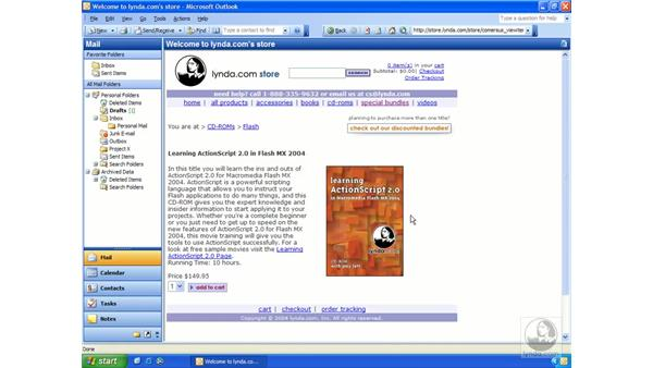 Outlook as a browser: Outlook 2003 Essential Training