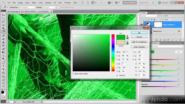 Adding a color tint: Photoshop Black-and-White Workshop