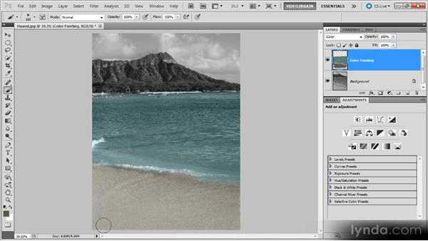 Color tinting by hand: Photoshop Black-and-White Workshop