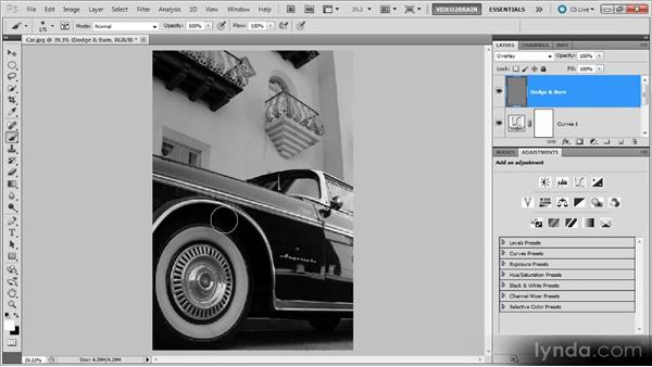 A classic car: Photoshop Black-and-White Workshop