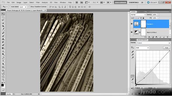Sepia prayer sticks: Photoshop Black-and-White Workshop