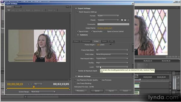 Export settings: Up and Running with Adobe Media Encoder
