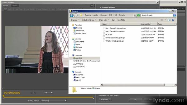 Managing presets: Up and Running with Adobe Media Encoder