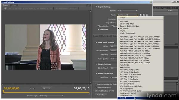Producing for user-generated content uploads: Up and Running with Adobe Media Encoder