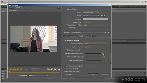 WMV overview: Up and Running with Adobe Media Encoder