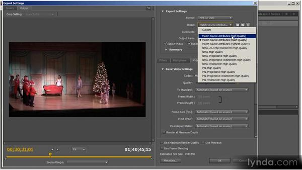 DVD production overview: Up and Running with Adobe Media Encoder
