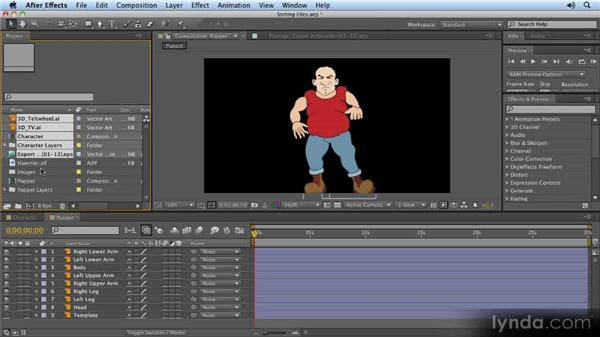 Sorting files: 2D Character Animation with After Effects