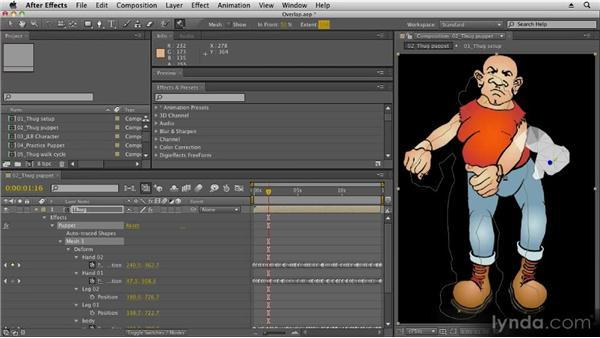 Animating the Overlap tool: 2D Character Animation with After Effects