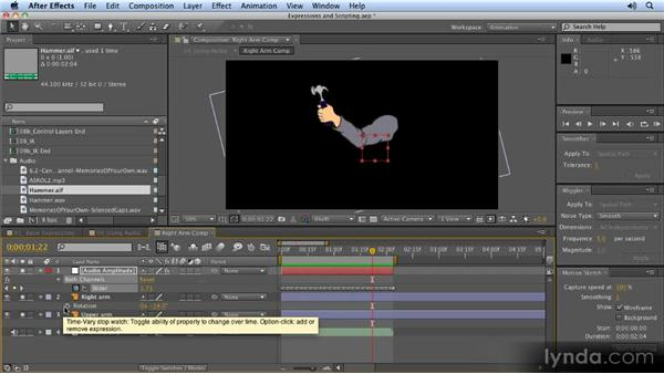 Using audio to control animation: 2D Character Animation with After Effects