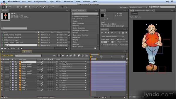 Scripts that aid in inverse kinematics: 2D Character Animation with After Effects