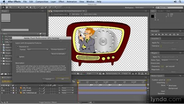 Exporting files for Flash: 2D Character Animation with After Effects