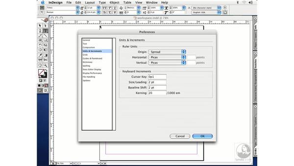 preferences: InDesign CS Essential Training