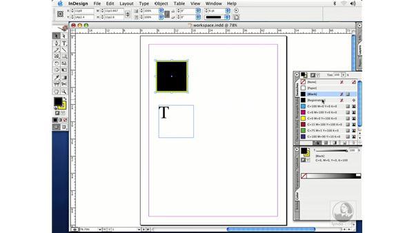 swatches palette: InDesign CS Essential Training