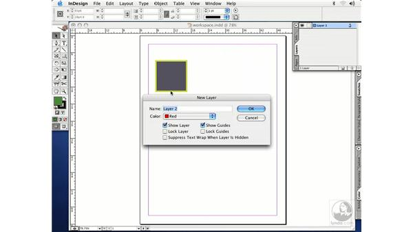 layers palette: InDesign CS Essential Training