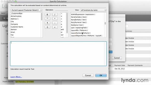 Working with calculated replaces: FileMaker Pro 12 in Depth