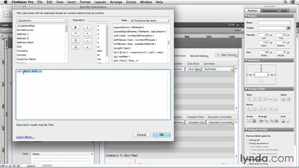 Using calculations in tooltips: FileMaker Pro 12 in Depth
