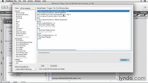Scripting in IWP: FileMaker Pro 12 in Depth
