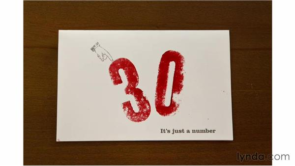 Hand-stamping the numbers: Designing an Invitation