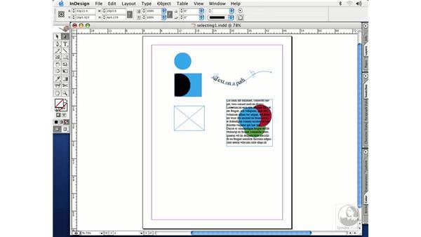 selection tools: InDesign CS Essential Training