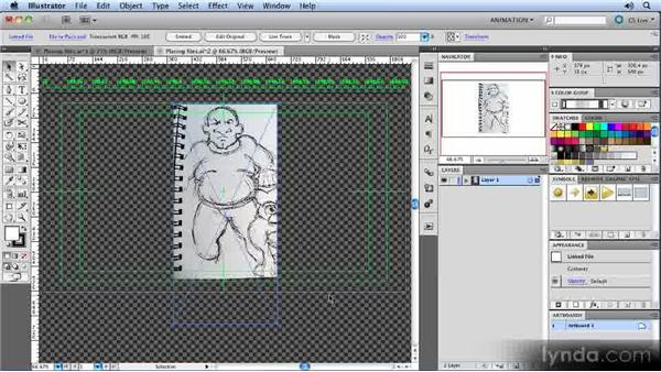 Placing files via import: Animated Character Design with Illustrator
