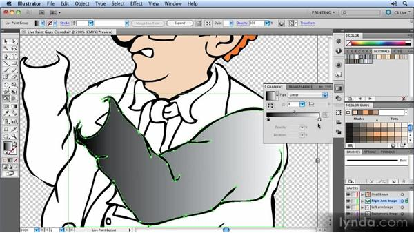Working with Live Paint: Animated Character Design with Illustrator