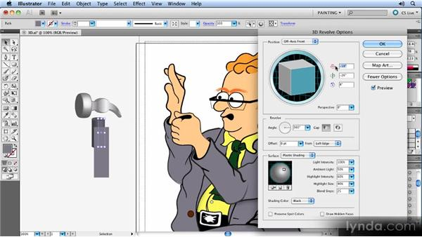 Creating live 3D effects: Animated Character Design with Illustrator