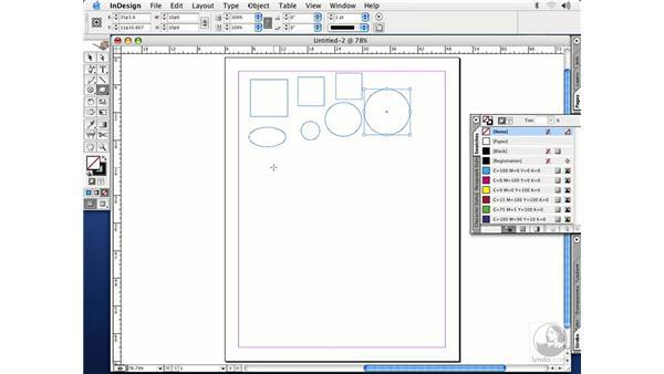 shape tools: InDesign CS Essential Training