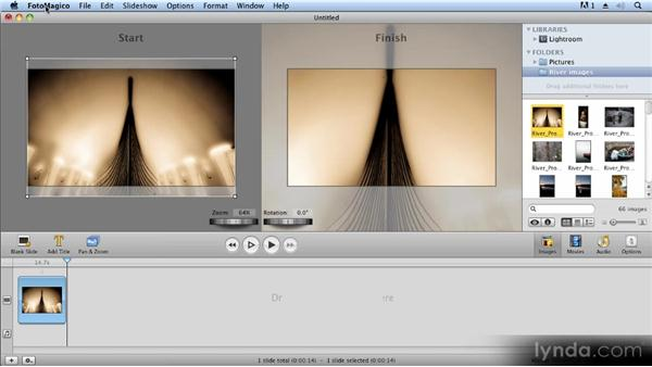 Adding and sequencing images: Creating Slideshows with FotoMagico and Photoshop