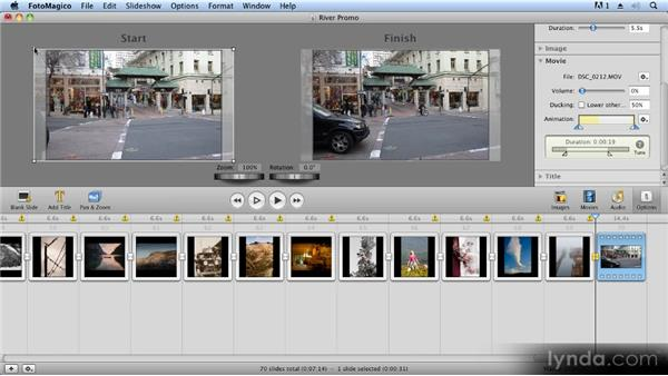 Adding and using video: Creating Slideshows with FotoMagico and Photoshop