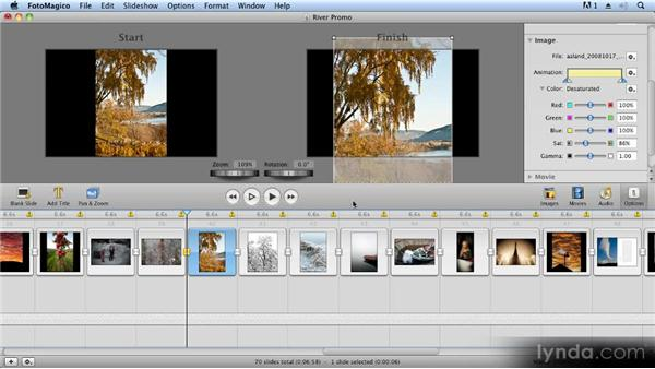 Simple image correction: Creating Slideshows with FotoMagico and Photoshop