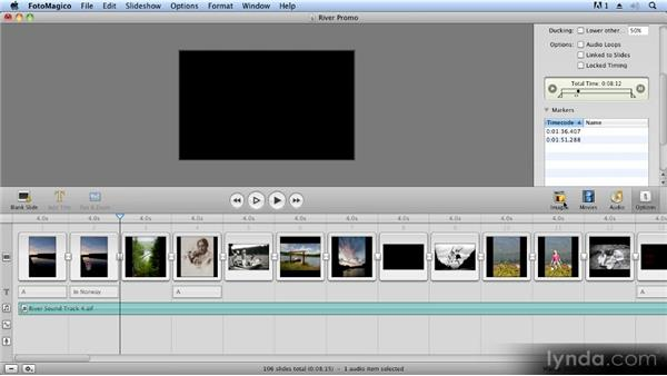 Incorporating music: Creating Slideshows with FotoMagico and Photoshop