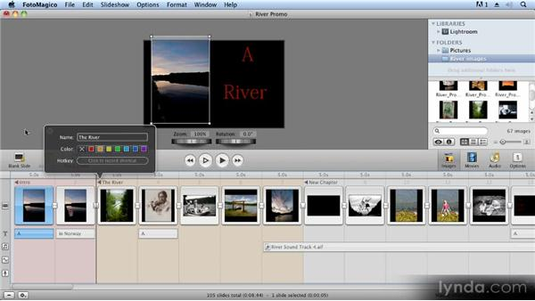 Creating chapters: Creating Slideshows with FotoMagico and Photoshop