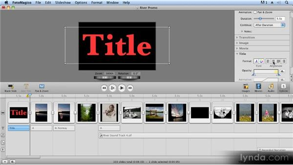 Adding titles: Creating Slideshows with FotoMagico and Photoshop