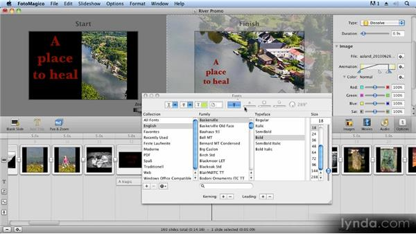 Advanced use of titles and text: Creating Slideshows with FotoMagico and Photoshop