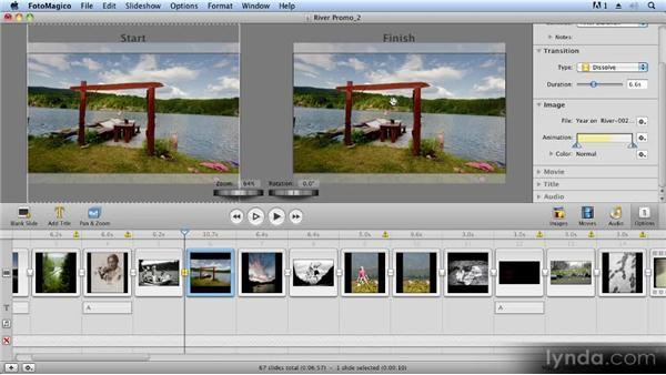 Basic pan and zoom controls: Creating Slideshows with FotoMagico and Photoshop