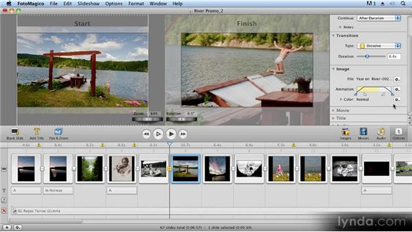 Advanced pan and zoom controls: Creating Slideshows with FotoMagico and Photoshop