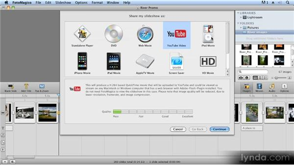 Exporting to QuickTime and devices: Creating Slideshows with FotoMagico and Photoshop