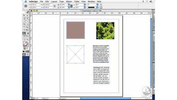 eyedropper tool: InDesign CS Essential Training