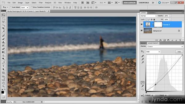 Adding and adjusting anchor points: Photoshop Curves Workshop