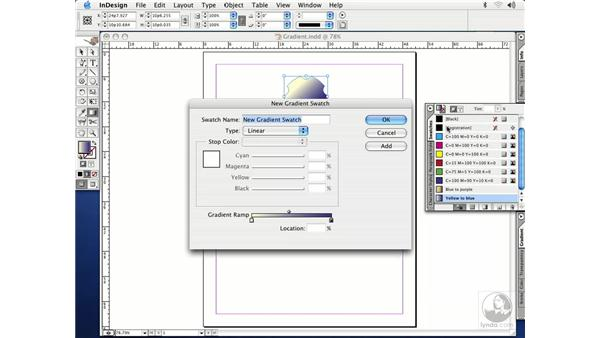 gradient tool: InDesign CS Essential Training