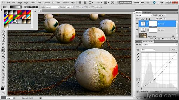 Blending an adjustment with a gradient layer mask: Photoshop Curves Workshop