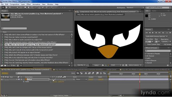 Why are my vector graphics pixelated?: Adobe After Effects CS5: Frequently Asked Questions
