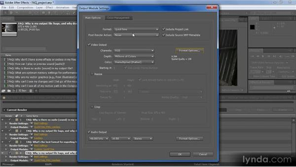 Why is my output file huge, and why doesn't it play smoothly?: Adobe After Effects CS5: Frequently Asked Questions