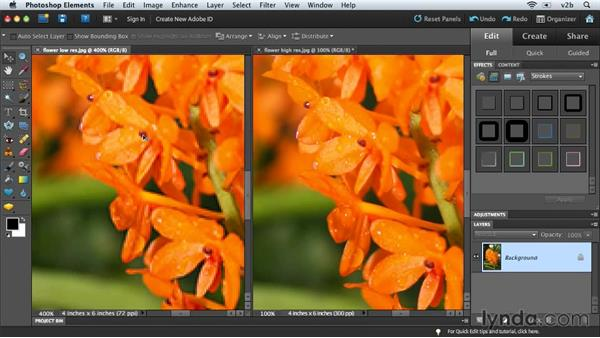 Understanding image resolution: Combining Images with Photoshop Elements 9