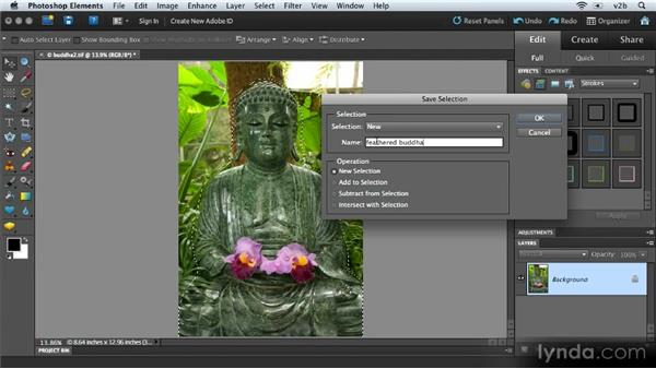 Saving and loading selections: Combining Images with Photoshop Elements 9