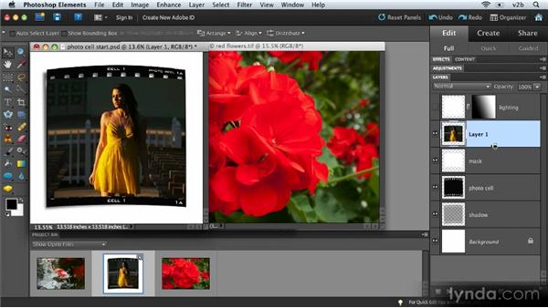 Creating clipping masks and clipping groups: Combining Images with Photoshop Elements 9