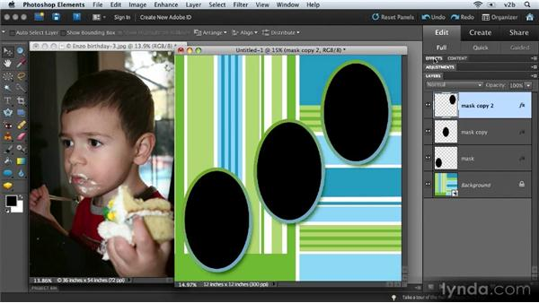 Creating a custom collage: Combining Images with Photoshop Elements 9